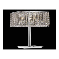 Moda 26 inch 60 watt Chrome Table Lamp Portable Light in Golden Teak and Clear, Swarovski Strass