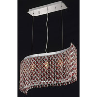 Elegant Lighting Moda 5 Light Dining Chandelier in Chrome with Swarovski Strass Bordeaux Crystal 1296D32C-BO/SS
