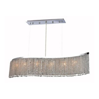 Elegant Lighting Moda 5 Light Dining Chandelier in Chrome with Elegant Cut Clear Crystal 1296D32C-CL/EC