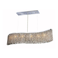 Elegant Lighting Moda 5 Light Dining Chandelier in Chrome with Swarovski Strass Golden Teak Crystal 1296D32C-GT/SS