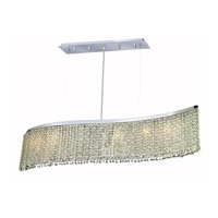Elegant Lighting Moda 5 Light Dining Chandelier in Chrome with Swarovski Strass Light Peridot Crystal 1296D32C-LP/SS