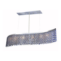 Moda 5 Light 9 inch Chrome Dining Chandelier Ceiling Light in Sapphire, Royal Cut