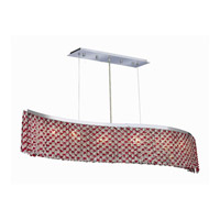 Elegant Lighting Moda 6 Light Dining Chandelier in Chrome with Swarovski Strass Bordeaux Crystal 1296D46C-BO/SS