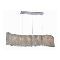 Elegant Lighting Moda 6 Light Dining Chandelier in Chrome with Royal Cut Clear Crystal 1296D46C-CL/RC