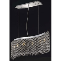 Elegant Lighting Moda 6 Light Dining Chandelier in Chrome with Royal Cut Jet Black Crystal 1296D46C-JT/RC