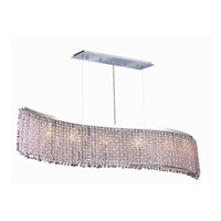 Elegant Lighting Moda 6 Light Dining Chandelier in Chrome with Swarovski Strass Rosaline Crystal 1296D46C-RO/SS