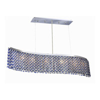 Elegant Lighting Moda 6 Light Dining Chandelier in Chrome with Royal Cut Sapphire Crystal 1296D46C-SA/RC