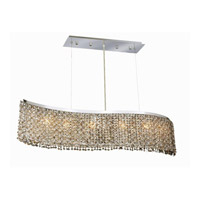 Elegant Lighting Moda 6 Light Dining Chandelier in Chrome with Royal Cut Topaz Crystal 1296D46C-TO/RC