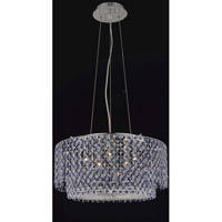 Moda 5 Light 24 inch Chrome Dining Chandelier Ceiling Light in Sapphire, Swarovski Strass