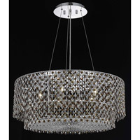 Elegant Lighting Moda 5 Light Dining Chandelier in Chrome with Swarovski Strass Topaz Crystal 1298D28C-TO/SS