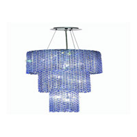 Elegant Lighting Moda 9 Light Foyer in Chrome with Swarovski Strass Sapphire Crystal 1298G54C-SA/SS
