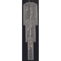 Moda 9 Light 16 inch Chrome Foyer Ceiling Light in Jet Black, Swarovski Strass