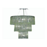 Elegant Lighting Moda 9 Light Foyer in Chrome with Royal Cut Light Peridot Crystal 1298G63C-LP/RC