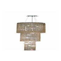 Elegant Lighting Moda 9 Light Foyer in Chrome with Royal Cut Light Topaz Crystal 1298G84C-LT/RC