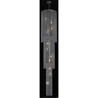 Elegant Lighting Moda 9 Light Foyer in Chrome with Swarovski Strass Sapphire Crystal 1298G84C-SA/SS