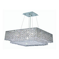 Elegant Lighting Moda 4 Light Dining Chandelier in Chrome with Swarovski Strass Golden Teak Crystal 1299D24C-GT/SS