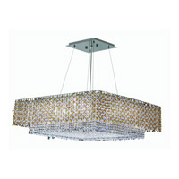 Elegant Lighting Moda 4 Light Dining Chandelier in Chrome with Swarovski Strass Light Topaz Crystal 1299D24C-LT/SS