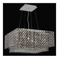 Elegant Lighting Moda 4 Light Dining Chandelier in Chrome with Swarovski Strass Topaz Crystal 1299D24C-TO/SS