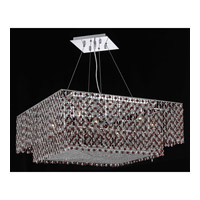 Elegant Lighting Moda 5 Light Dining Chandelier in Chrome with Swarovski Strass Bordeaux Crystal 1299D28C-BO/SS