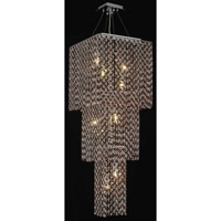 Elegant Lighting Moda 9 Light Foyer in Chrome with Swarovski Strass Bordeaux Crystal 1299G42C-BO/SS