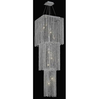 Elegant Lighting Moda 9 Light Foyer in Chrome with Swarovski Strass Clear Crystal 1299G54C-CL/SS
