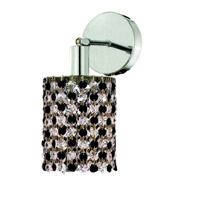 Elegant Lighting Mini 1 Light Wall Sconce in Chrome with Royal Cut Jet (Black) Crystals 1381W-R-E-JT/RC