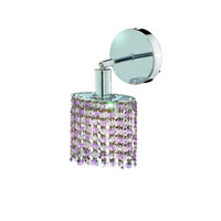 Elegant Lighting Mini 1 Light Wall Sconce in Chrome with Royal Cut Rosaline (Pink) Crystals 1381W-R-E-RO/RC