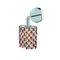 Elegant Lighting Mini 1 Light Wall Sconce in Chrome with Royal Cut Topaz (Brown) Crystals 1381W-R-E-TO/RC