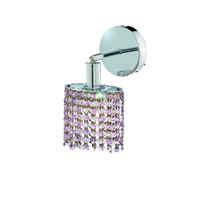 Elegant Lighting Mini 1 Light Wall Sconce in Chrome with Royal Cut Rosaline (Pink) Crystals 1381W-R-R-RO/RC photo thumbnail
