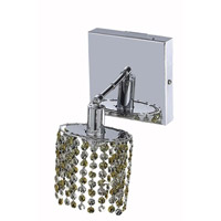 Elegant Lighting Mini 1 Light Wall Sconce in Chrome with Royal Cut Lt. Topaz (Yellow) Crystals 1381W-S-E-LT/RC