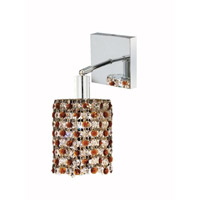 Elegant Lighting Mini 1 Light Wall Sconce in Chrome with Royal Cut Topaz (Brown) Crystals 1381W-S-R-TO/RC