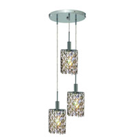 Elegant Lighting Mini 3 Light Pendant in Chrome with Royal Cut Golden Teak (Smoky) Crystals 1383D-R-E-GT/RC photo thumbnail