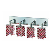 Elegant Lighting Mini 4 Light Wall Sconce in Chrome with Royal Cut Bordeaux (Red) Crystals 1384W-O-P-BO/RC