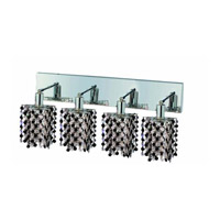 Elegant Lighting Mini 4 Light Wall Sconce in Chrome with Strass Swarovski Jet (Black) Crystals 1384W-O-P-JT/SS