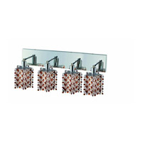 Elegant Lighting Mini 4 Light Wall Sconce in Chrome with Strass Swarovski Topaz (Brown) Crystals 1384W-O-P-TO/SS