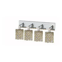 Elegant Lighting Mini 4 Light Wall Sconce in Chrome with Strass Swarovski Lt. Peridot (Light Green) Crystals 1384W-O-R-LP/SS