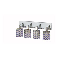 Elegant Lighting Mini 4 Light Wall Sconce in Chrome with Strass Swarovski Sapphire (Blue) Crystals 1384W-O-R-SA/SS