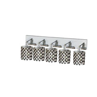 Elegant Lighting Mini 5 Light Wall Sconce in Chrome with Strass Swarovski Jet (Black) Crystals 1385W-O-E-JT/SS
