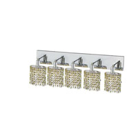 Elegant Lighting Mini 5 Light Wall Sconce in Chrome with Royal Cut Lt. Peridot (Light Green) Crystals 1385W-O-E-LP/RC