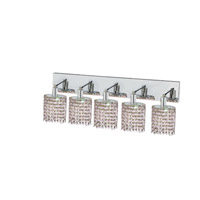 Elegant Lighting Mini 5 Light Wall Sconce in Chrome with Strass Swarovski Rosaline (Pink) Crystals 1385W-O-E-RO/SS