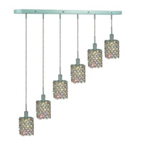 Elegant Lighting Mini 6 Light Pendant in Chrome with Strass Swarovski Golden Teak (Smoky) Crystals 1386D-O-S-GT/SS