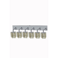 Elegant Lighting Mini 6 Light Wall Sconce in Chrome with Strass Swarovski Lt. Topaz (Yellow) Crystals 1386W-O-P-LT/SS
