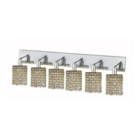 Elegant Lighting Mini 6 Light Wall Sconce in Chrome with Strass Swarovski Lt. Peridot (Light Green) Crystals 1386W-O-R-LP/SS