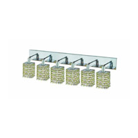 Elegant Lighting Mini 6 Light Wall Sconce in Chrome with Royal Cut Lt. Peridot (Light Green) Crystals 1386W-O-S-LP/RC