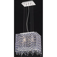 Elegant Lighting Moda 2 Light Pendant in Chrome with Royal Cut Sapphire Crystal 1391D14C-SA/RC