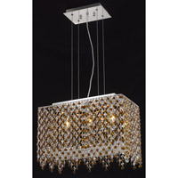 Elegant Lighting Moda 3 Light Dining Chandelier in Chrome with Swarovski Strass Topaz Crystal 1391D18C-TO/SS