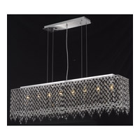 Elegant Lighting Moda 8 Light Dining Chandelier in Chrome with Swarovski Strass Jet Black Crystal 1391D46C-JT/SS