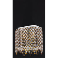 Elegant Lighting Moda 2 Light Pendant in Chrome with Swarovski Strass Topaz Crystal 1392D14C-TO/SS