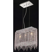 Elegant Lighting Moda 3 Light Dining Chandelier in Chrome with Swarovski Strass Rosaline Crystal 1392D18C-RO/SS