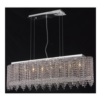 Elegant Lighting Moda 8 Light Dining Chandelier in Chrome with Elegant Cut Clear Crystal 1392D46C-CL/EC